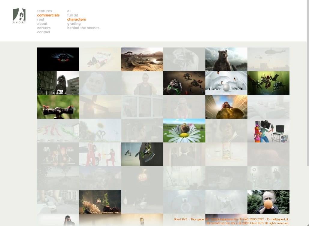 Ghost VFX website